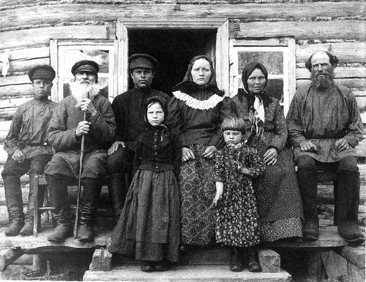 Крестьянская семья. Рязанская губ., Касимовский уезд, с. Увяз. 1910 год.