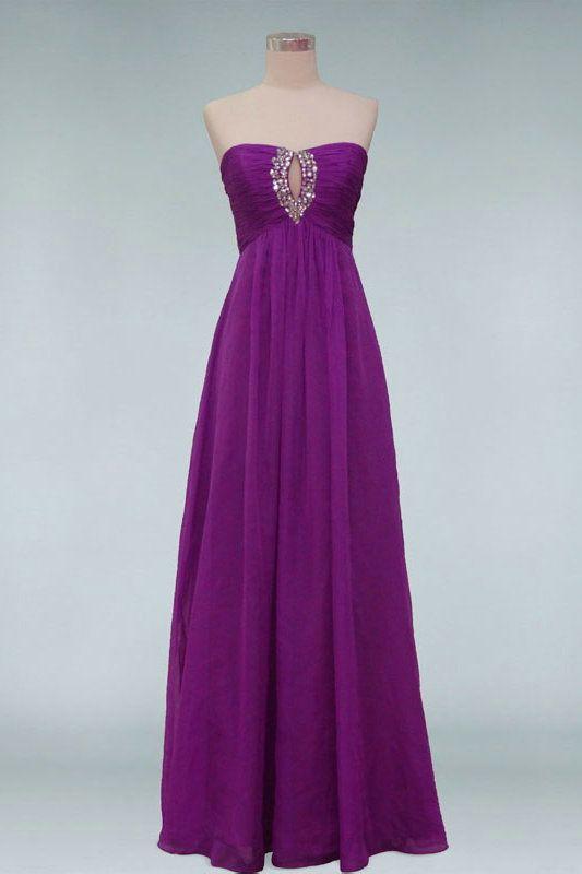 Chiffon Floor Length Beaded Purple Key Hole Prom Dress,Affordable Evening Dresses-Cheap Evening Dresses,Affordable Evening Gown,Women Evening Dresses Sales Online
