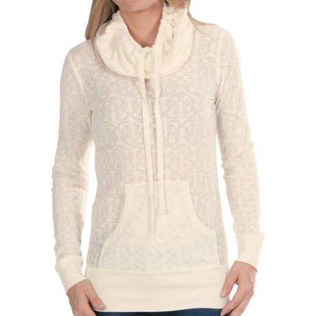 Aventura Clothing Camille Burnout Thermal Hoodie (For Women))