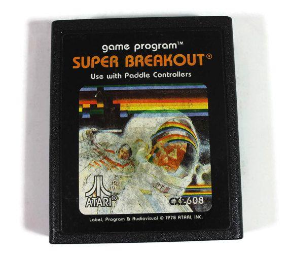 Super Breakout Atari 2600 1978 Retro Video Game by Retro8Games