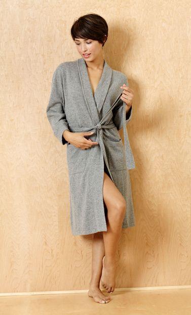 Grey Cashmere Robe 1062-CA-403