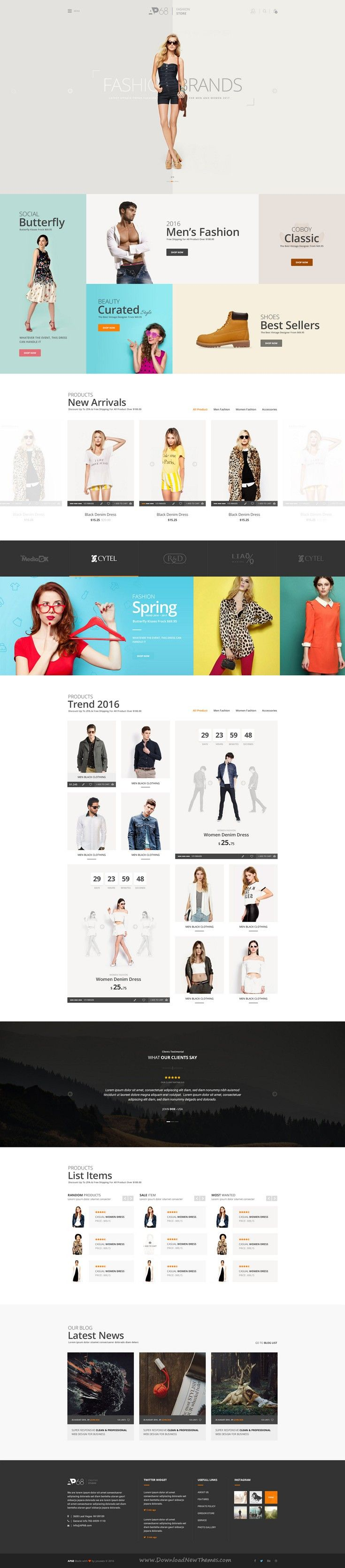AP68 is Creative PSD Template for multipurpose #website. #fashion #store Download Now!