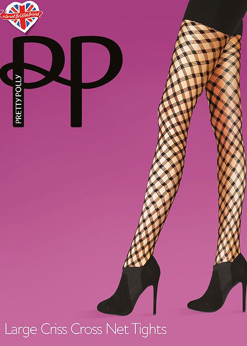 f45808920 Pretty Polly Large Criss Cross Net Tights