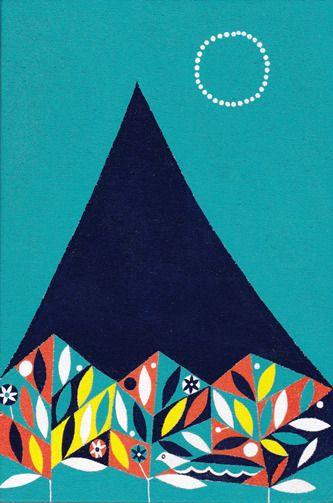 遠い月(2013)Matsue Maiko, Illustration.