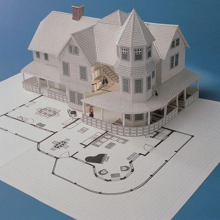 Vintage DESIGN WORKS 3-D Home Kit BUILD a 3D Scale Model of YOUR Home or Project #DesignWorks