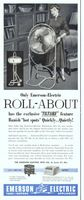 Emerson Electric Roll-About Fans 1954 Ad Picture