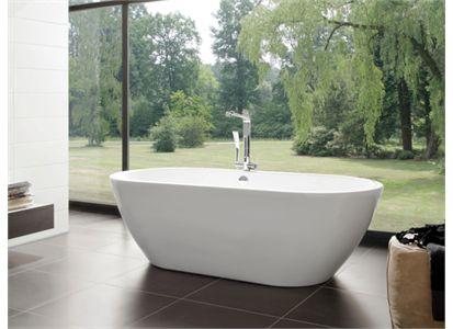 Knief Form Frittstående badekar 1900x900 mm. Inkl. av- og overløpsett