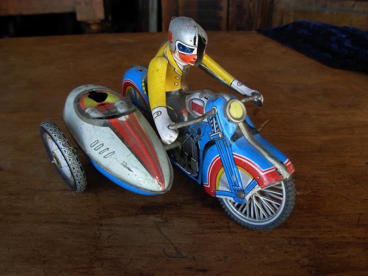Motocicleta con sidecar, Sonia Carroza Antiguedades