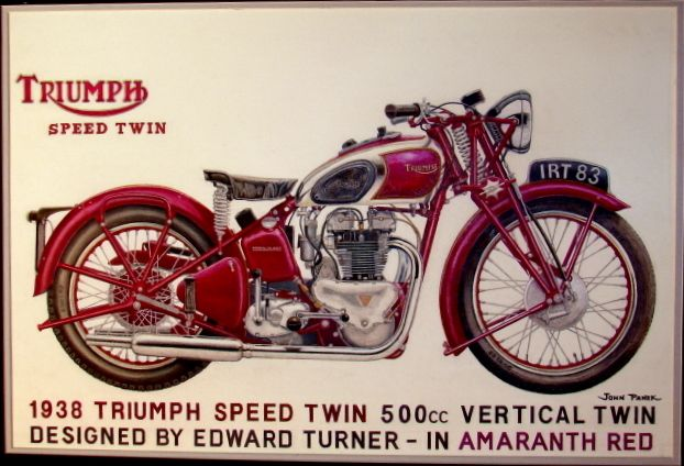 Triumph motorcycle advertisement