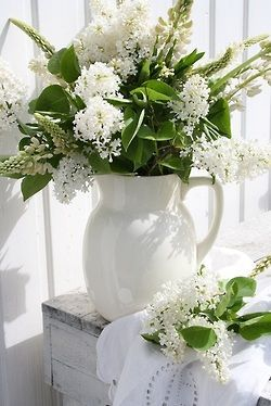 Beautiful pitcher with flowers