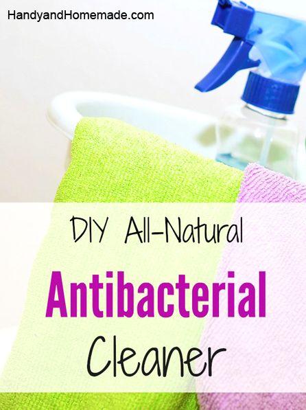 DIY Homemade All-Natural Antibacterial Cleaner Recipe