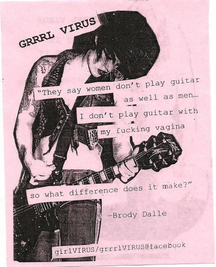 brody dalle, feminism, grrrl riot, grrrl virus, guitar