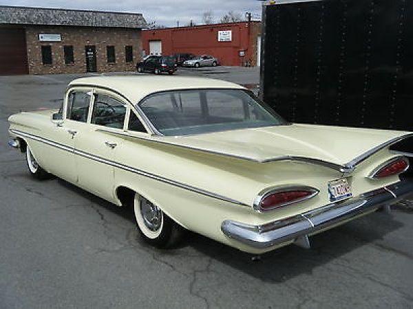 1959 Chevrolet Impala 4 Door Sedan Chevroletclassiccars Chevrolet Bel Air American Classic Cars Classic Cars Muscle