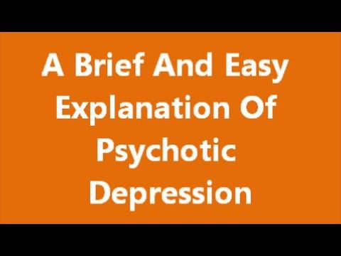 A Brief And Easy Explanation Of Psychotic Depression -   WATCH VIDEO HERE -> http://bestdepression.solutions/a-brief-and-easy-explanation-of-psychotic-depression/      *** what is Psychotic Depression ***  Suffers of psychotic depression face symptoms of psychosis. These symptoms include hallucinations, delusions and paranoia. Things like hearing voices poor sleeping patterns and negative feelings of self worth are common.   Psychotic depression is a type...