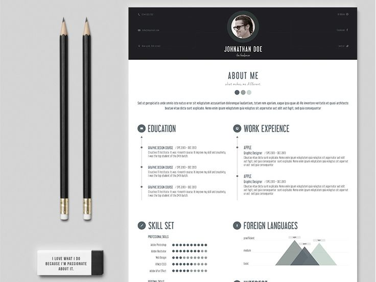 35 best Resume Template Designs images on Pinterest Resume - graphic design resume objective