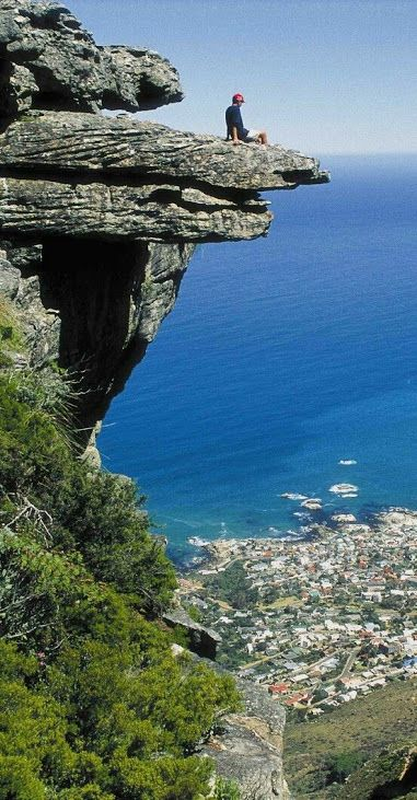 What a view from Table Mountain National Park looking down on Cape Town the capital city of South Africa.