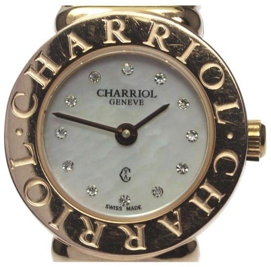 Philippe Charriol ST.Tropez ST20 Stainless Steel / Pink Gold Plated White Diamond Dial Quartz 20.5mm Womens Watch