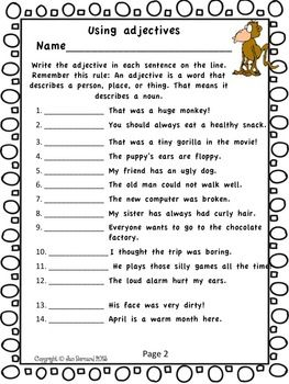 "MONKEY SHINE! 2ND GRADE LANGUAGE ARTS FREEBIE - Go just a little bit bananas with this second grade freebie! This resource includes two student pages that cover two language standards. The resource is taken from a larger product called ""Going Ape over Second Grade Language Arts Common Core!"""