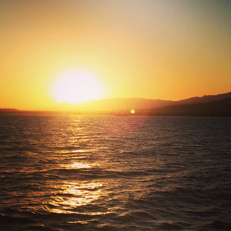 Santa Barbara #coast #sunset