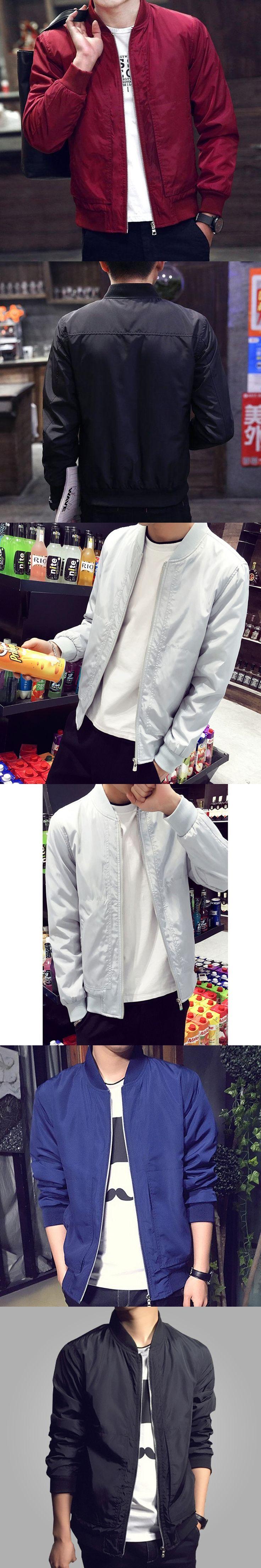 2017 Fashion High Street Men Clothes Clothing Mens Jackets Multi Colors Jacket Man Waterproof Men Bomber Jacket