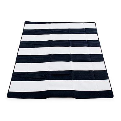 On-The-Go Picnic Mat - Black and White Stripes