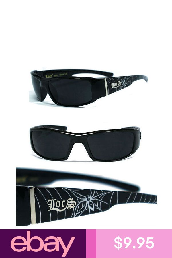 Shiny Black LC57 Locs Mens Cholo Biker Sunglasses
