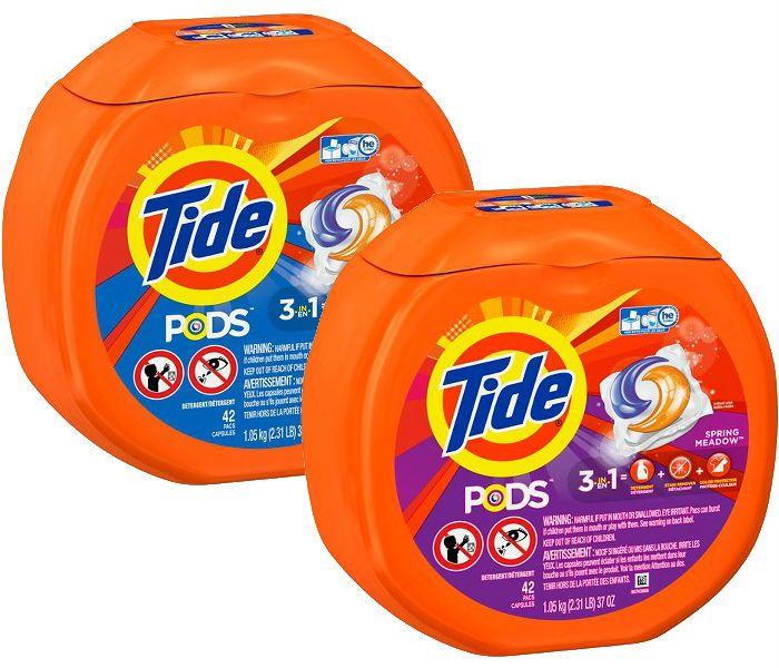 En Target puedes conseguir los Tide Pods de 42 ct a $11.99 regularmente. Compra (2) y utiliza (2) cupones de $3.00/1 más recibes $5 en una ...