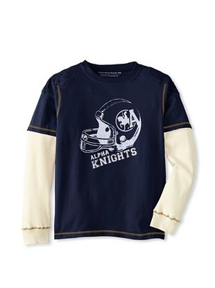 72% OFF Alpha Industries Boy's Jersey Twofer (Navy)