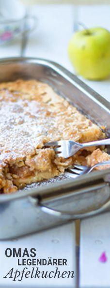 Rezept für den super-beliebten Apfel-Kuchen meiner lieben Großmutter (mit Mürbteig)