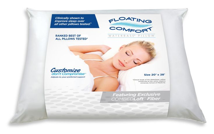 No matter which way you lay, your head and neck remain in proper alignment, with the Floating Comfort Pillow.