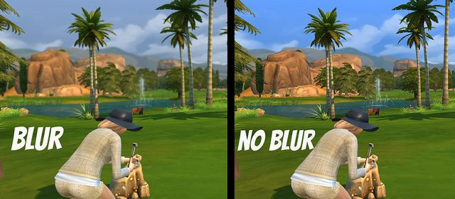 Decrease/Eliminate Distance Blur at Sims Vip via Sims 4 Updates