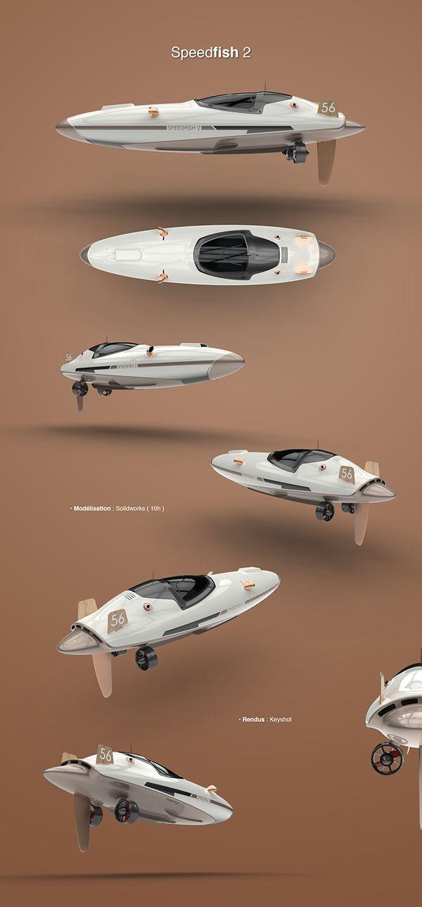 Speedfish 2, vedette à moteur de 5m. Exercice de style et de modélisation.