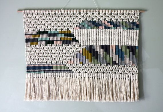 Woven Macrame Wall Hanging / Patchwork