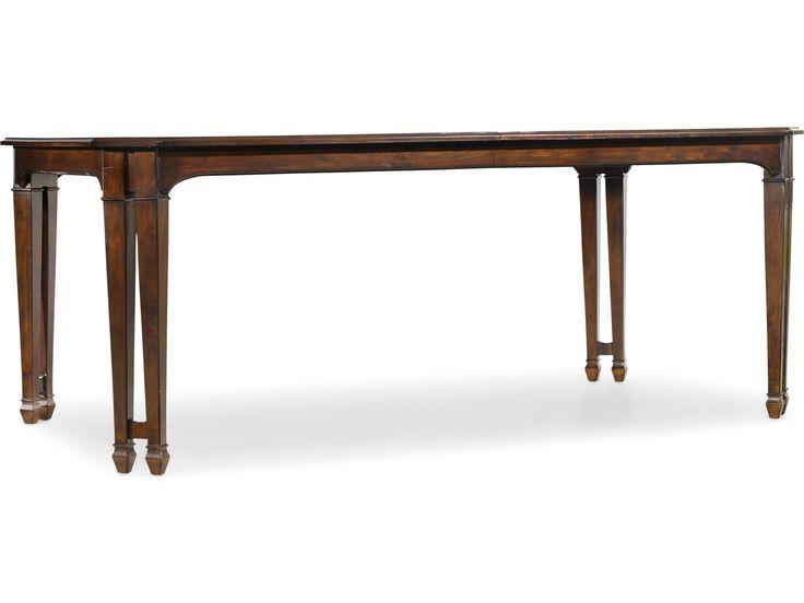 Hooker Furniture Palisade Dark Wood 76''L x 44''W Rectangular Dining Table