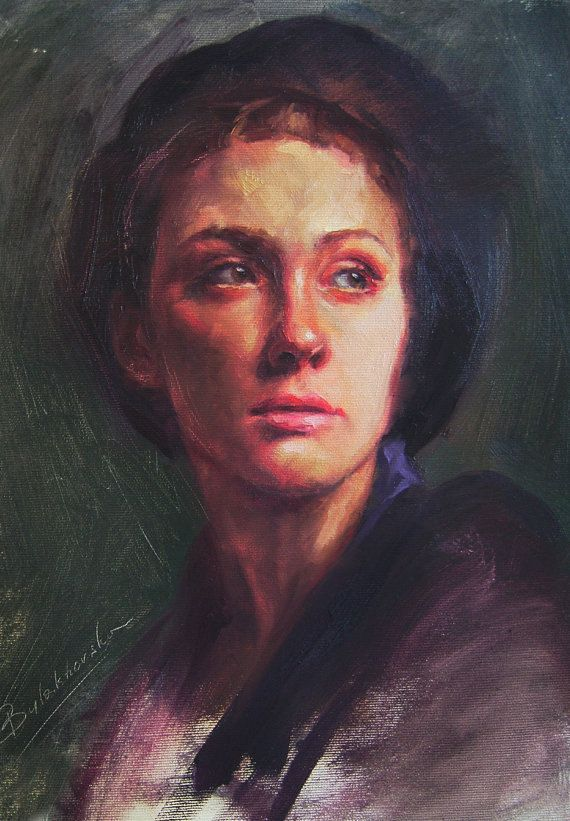 oil painting  art painting  Lighting Portrait  by OliFineArt