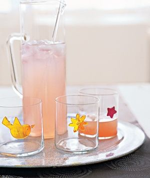 Great party idea for marking your drink glass...removable window decals.