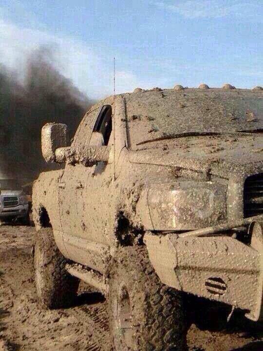 Muddy Dodge Ram 2500 Dodge Trucks Are Fun When They Get