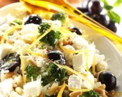 salade riz chevre brocoli
