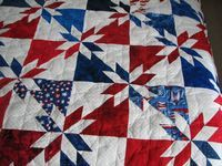 Patriotic Starburst Quilt (another version of Hunter's Star)
