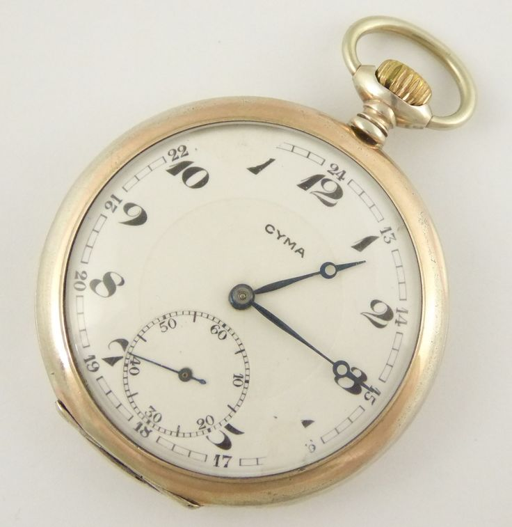 Antique CYMA Mechanical Pocket Watch in a .800 German Silver Case (Needs Work) - The Collectors Bag