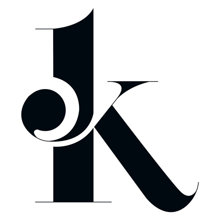 "This is a really beautiful font type. The curly cues branch out of the ""K"" and then come back in to form the top bracket. The font is bold, with a hint of elegance due to the overall appearance and organization of the letter ""K""."