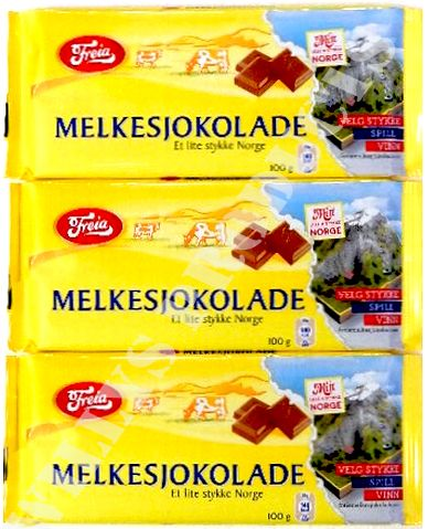 Can't live without these either. Freia  milk chocolate from Norway