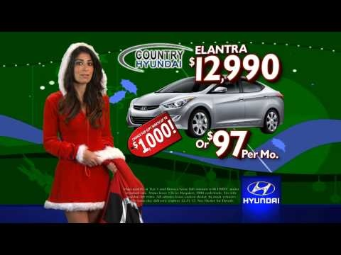 All month long get a BRAND NEW Elantra for just $12,990 or $97 a month!!  Subscribe today to get updates on our Country Hyundai deals! http://youtube.com/countryhyundai