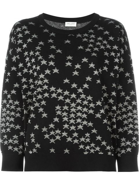 Shop Saint Laurent star intarsia sweater in Kirna Zabête from the world's best independent boutiques at farfetch.com. Shop 400 boutiques at one address.