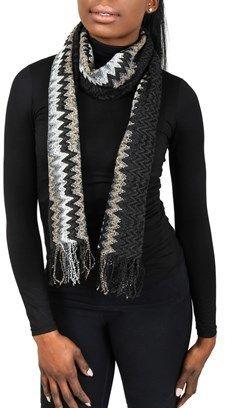 Missoni Sc31wmu5171 0001 Dark Brown/tan Wool Blend Womens Scarf.