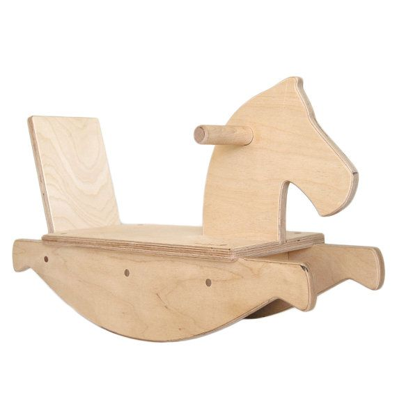 """Rocking Horse Wood ToModern Rocking Horse  Modern Toddler Rocking Horse is just plain fun. Crawling infants and confident toddlers will gladly giddy up on this safe and sturdy riding toy. This Rocking Horse helps children develop gross motor skills as they manipulate the horse to rock at their pace.  The Rocking Horse is about 24"""" long, 8.25"""" wide and 16"""" tall. The seat sits 5.5"""" off the ground and has an engraved logo on the seat near the head. It is made with safe, formaldehyde free Birch…"""