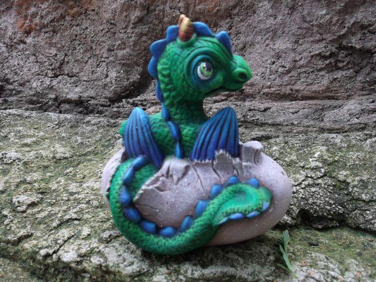 Dry brush dragon by Margie Gray