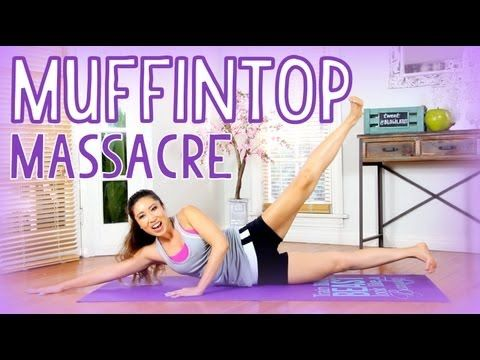 ▶ POP Pilates: Muffintop Massacre - YouTube This ladies videos are killer I was sore for 3 days after doing her inner thigh workout. Good stuff!
