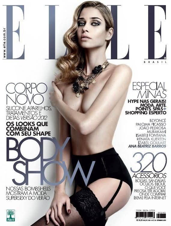 Body Beautiful – Elle Brazil taps four of the hottest Brazilian models for its September covers. With the striking beauty and curves of Isabeli Fontana, Izabel Goulart, Ana Beatriz Barros and Renata Kuerten; the four covers are nothing less than pure perfection.