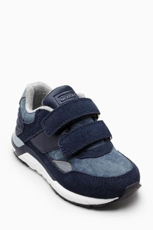 Denim Fashion Marathon Trainers (Younger Boys)